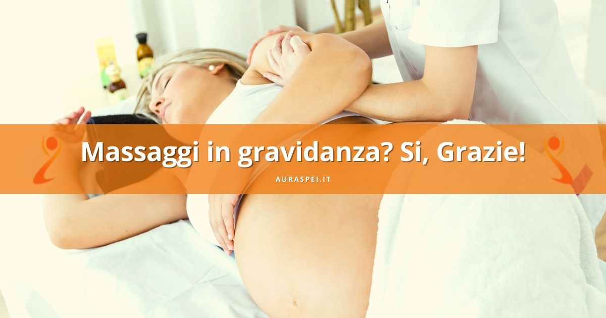 donna riceve un massaggio in gravidanza a verona